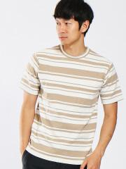 ABAHOUSE - ポンチボーダーポケットTシャツ