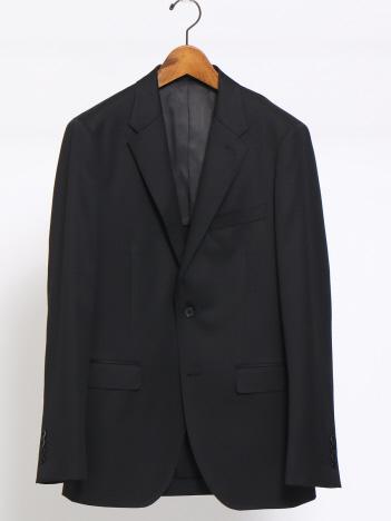SUPER100s ツイルジャケット(ブラックカラー)