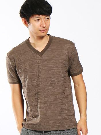 ABAHOUSE - 【Recency of Mine】ランダムカモフラVネックTシャツ
