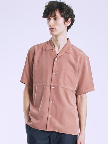 OUTLET (MEN'S) - 【WEB別注】モダールオープンカラー半袖シャツ