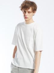 シルケットスムースクルーネックTシャツ