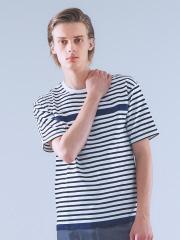 ABAHOUSE - 天竺ボーダー圧着Tシャツ