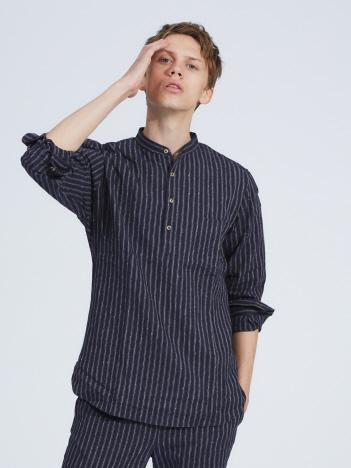 OUTLET (MEN'S) - 【De Bonne Facture】GRANDAD COLLA シャツ