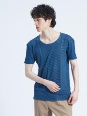 ABAHOUSE - 【BLEU DE COCAGNE】クルーネックボーダーTシャツ