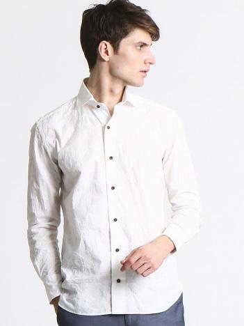 【Recency of Mine】コンパクトローンフラワー刺繍シャツ