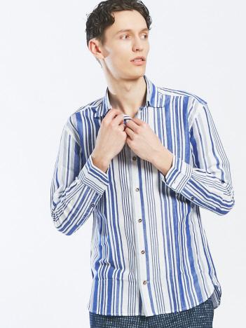 【Recency of Mine】フレンチリネンストライプシャツ