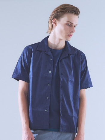 OUTLET (MEN'S) - 【Recency of Mine】マイクロストレッチスエードオープンカラーシャツ