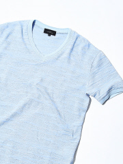 ABAHOUSE - 【Recency of Mine】ランダムカモジャカードボーダーVネックTシャツ