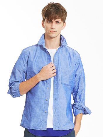 リネンコットンワイヤーシャツ