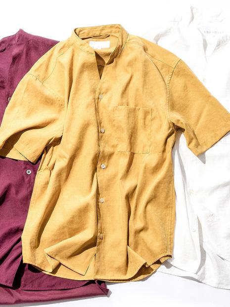 Vネック半袖シャツ