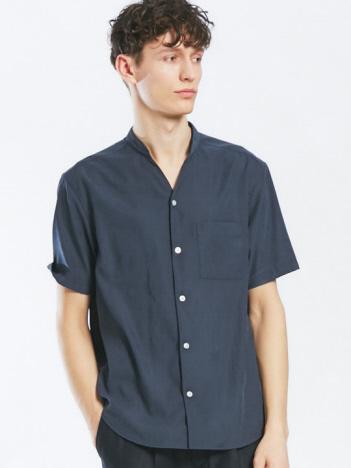 ABAHOUSE - Vネック半袖シャツ