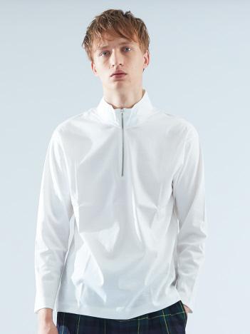 ABAHOUSE - コンパクトスムースハーフZIPTシャツ