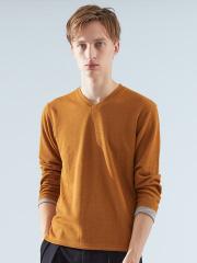 ABAHOUSE - TR鹿の子ダブルフェイスVネックTシャツ