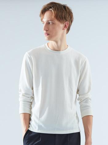 TR鹿の子ダブルフェイスクルーネックTシャツ