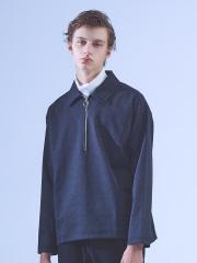 ABAHOUSE - 【CARREMAN】ポンチ グレンチェック ハーフZIPTシャツ