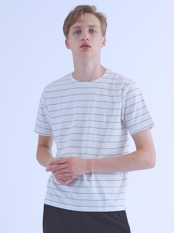 【ノンストレス】圧着クルーネックTシャツ