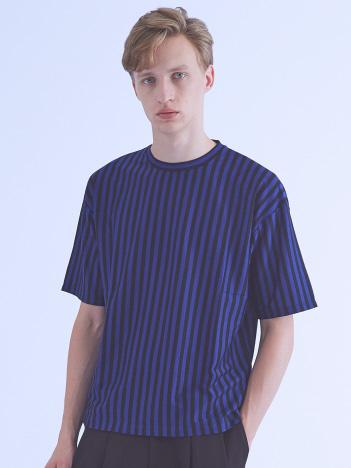 OUTLET (MEN'S) - ストライプオーバーサイズTシャツ
