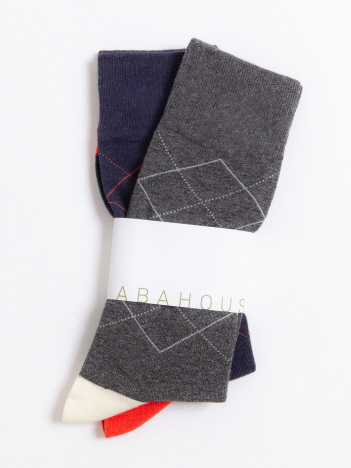 ABAHOUSE - 【THE SOX】Jamie 2Pアーガイルチェックソックス