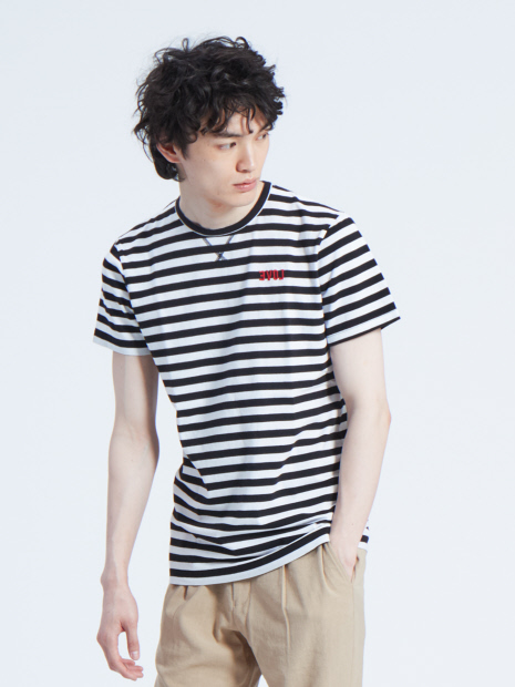 【CEIZER】EVOL Embroidery ボーダーTシャツ