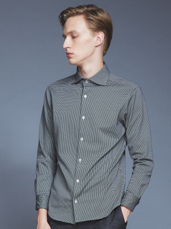 OUTLET (MEN'S) - 【Recency of Mine】コンパクトシルキーギンガムシャツ
