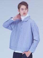 ABAHOUSE - ストライプショートシャツ