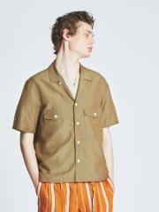 ABAHOUSE - ハイツイストCU/LI オープンカラーシャツ