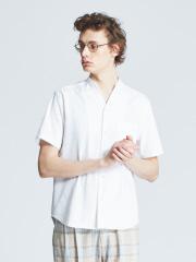 エンボスポンチVネックシャツ