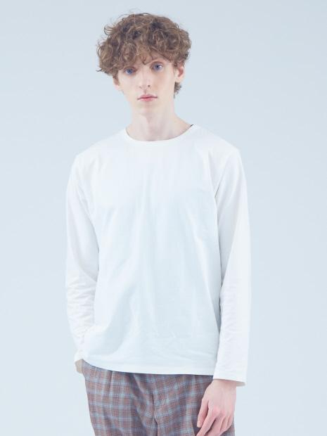 コットン圧着クルーネックTシャツ