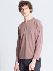 ABAHOUSE - ポンチキーネック 長袖Tシャツ