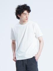 【ノンストレス】COTTON LYCRA圧着クルーネック半袖Tシャツ