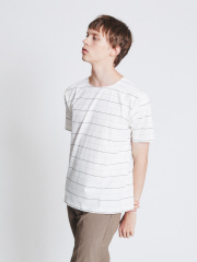 ABAHOUSE - 【ノンストレス】COTTON LYCRA圧着クルーネック半袖Tシャツ