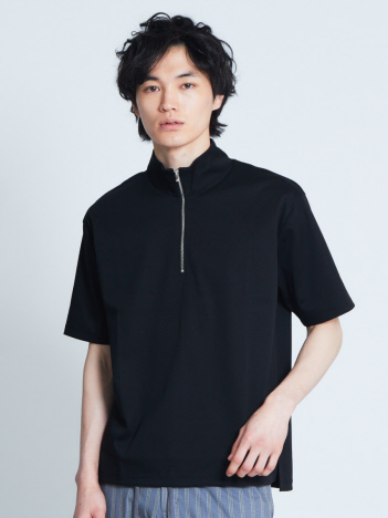 OUTLET (MEN'S) - コンパクトスムースハーフジップTシャツ