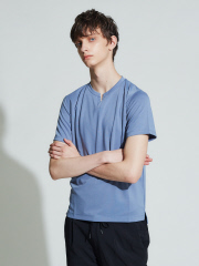 ABAHOUSE - ポンチキーネック 半袖Tシャツ