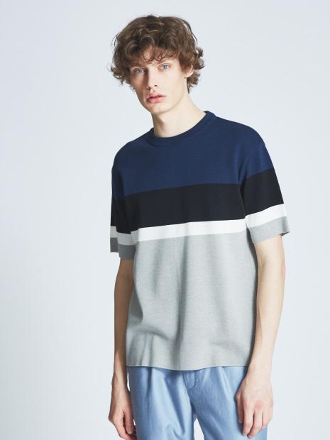 ミラノリブラインニットTシャツ