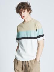 ABAHOUSE - ミラノリブラインニットTシャツ