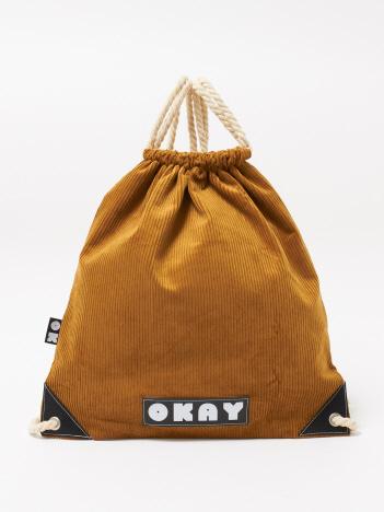 【OKAY】 CORDUROY 巾着ショルダーバッグ