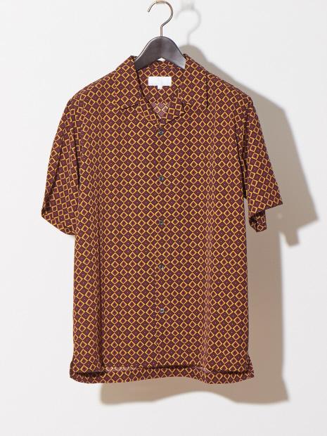 【WEB別注】ドット柄オープンカラーシャツ