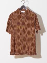ABAHOUSE - 【WEB別注】ドット柄オープンカラーシャツ
