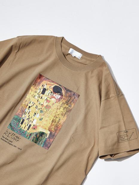 クリムト The Kiss プリントTシャツ
