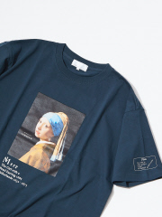 ABAHOUSE - フェルメール Girl with a Pearl Earring Tシャツ