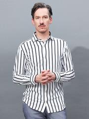 ABAHOUSE - 【Recency of Mine】カラミメッシュワイドピッチストライプシャツ【予約】