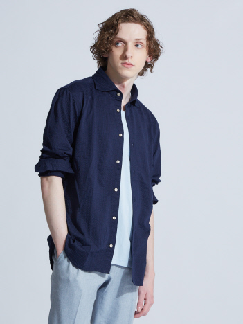 OUTLET (MEN'S) - 【Recency of Mine】36G Silkyサッカージャージーシャツ