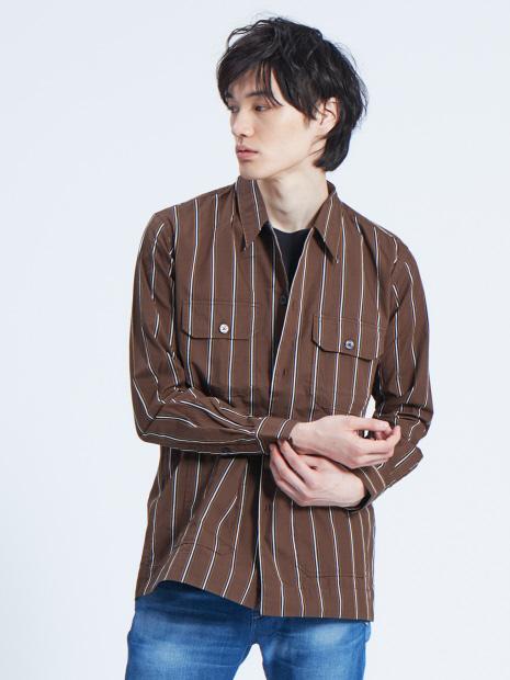 【Recency of Mine】レクセルブロード&サテンドビーストライプシャツ