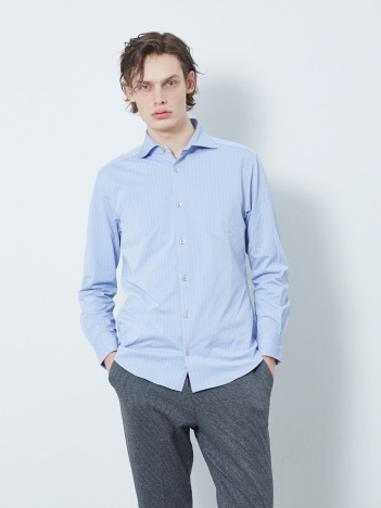 【FLEX】ヘリンボンジャージシャツ