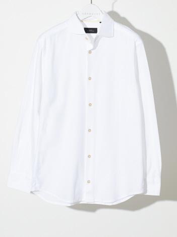 ABAHOUSE - 【FLEX/消臭】カラミジャガード長袖シャツ