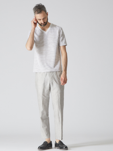 【Recency of Mine】サーマルカモフラジャガードVネックTシャツ
