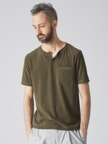 【Recency of Mine】パイルキーネック 半袖Tシャツ