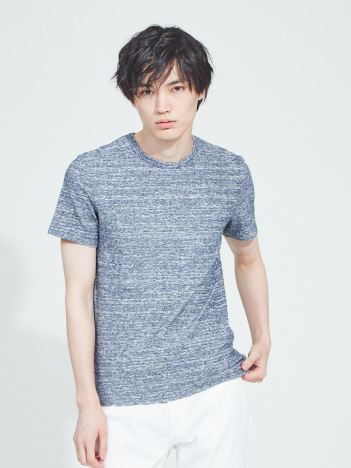 OUTLET (MEN'S) - 【Recency of Mine】ランダムパイルクルーネック半袖Tシャツ