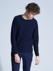 ABAHOUSE - 【Recency of Mine】LINEN TOPハニカムクルーニット