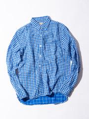 【YANUK】二重織りギンガムチェックシャツ